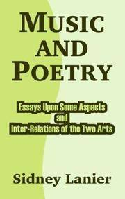 image of Music And Poetry: Essays Upon Some Aspects And Inter-relations Of The Two Arts
