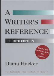 image of A Writer's Reference: With MLA's and APA's 1999 Guidelines