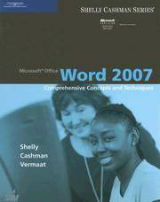 Microsoft Office Word 2007: Comprehensive Concepts and Techniques (Available Titles Skills...