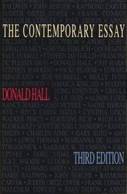 The Contemporary Essay