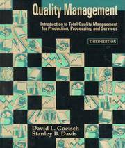 QUALITY MANAGEMENT: INT. TO TOTAL QUALITY MGMT. FOR PRD, 3E