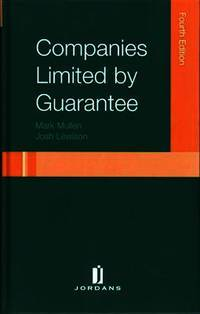 image of Companies Limited by Guarantee: Fourth Edition (Jordans Employment Law Series)