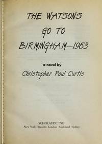 image of The Watsons Go to Birmingham--1963