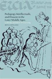 Pedagogy, Intellctuals, and Dissent in the Later Middle Ages: Lollardy and Ideas of Learning; by  Rita Copeland - Hardcover - from Wheen O'Books (SKU: 21877)