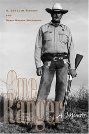 One Ranger; A Memoir