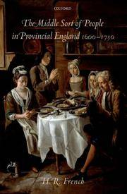 The Middle Sort of People in Provincial England 1600-1750