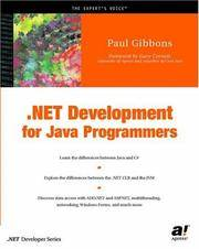 .NET Development for Java Programmers by Paul Gibbons; Gary Cornell - Paperback - 2002 - from Junic Resources (SKU: 1590590384)