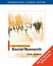 The Practice Of Social Research 11/E Ise
