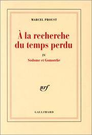 SODOME ET GOMORRHE by  MARCEL PROUST - Paperback - 1992 - from BookVistas and Biblio.com