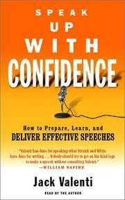 Speak Up with Confidence by  Jack (Read by) Valenti - Abridged - 2002 - from Red Rover Do Over (SKU: Alibris.0017905)
