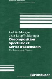 Décomposition spectrale et séries d'Eisenstein : une paraphrase de...