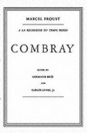 image of Combray ( French- Intro and notes in english) (French and English Edition)
