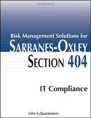 Risk Management Solutions for Sarbanes-Oxley Section 404 IT Compliance