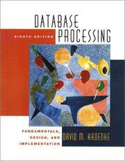 image of DATABASE PROCESSING - FUNDAMENTALS, DESIGN AND IMPLEMENTATION