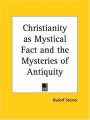 image of Christianity as Mystical Fact and the Mysteries of Antiquity