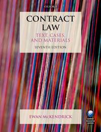 Contract Law Text, Cases and Materials 7E