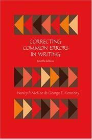 CORRECTING COMMON ERRORS IN WRITING