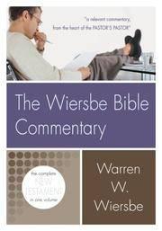 Wiersbe Bible Commentary NT (Wiersbe Bible Commentaries)