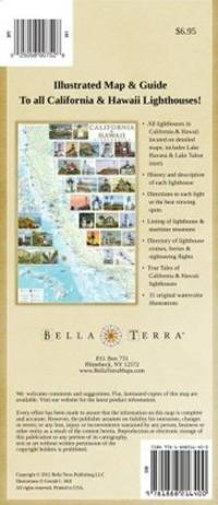 California & Hawaii Lighthouses: Illustrated Map & Guide