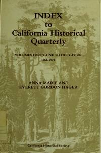 Index to California Historical Quarterly Vols 41-54