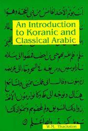 An Introduction to Koranic and Classical Arabic: An Elementary Grammar of the Language