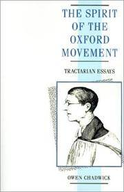 The Spirit Of the Oxford Movement
