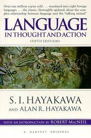 image of Language in Thought and Action: Fifth Edition