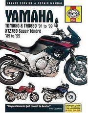 Yamaha: TDM850 & TRX850 '91 to '99 - XTZ750 Super Tenere '89 to '95 (Haynes Service & Repair Manual)