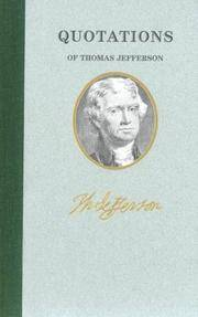 image of Quotations of Thomas Jefferson (Great American Quote Books)
