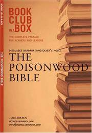image of Bookclub-in-a-Box Discusses The Poisonwood Bible, the Novel by Barbara Kingsolver