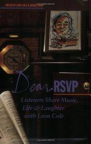 "Dear RSVP...Listeners Share Music,Life & Laughter with Leon Cole..Signed By Leon Cole on the Title Page..""With Best Wishes  Leon Cole."""