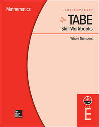 TABE Skill Workbooks Level E: Whole Numbers (10 copies) (Achieving TABE Success for TABE 9  10)