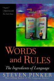 image of Words and Rules: The Ingredients of Language