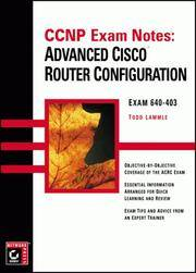 CCNP Exam Notes: Advanced Cisco Router Configuration