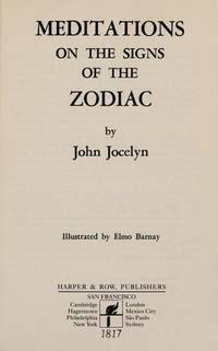Meditations on the Signs of the Zodiac (Harper's Ministers Paperback Library)