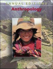 Annual Editions Anthropology 05-06 by  Editor  Elvio - Paperback - 2004 - from Port Hole Books and Publishing (SKU: 014471)