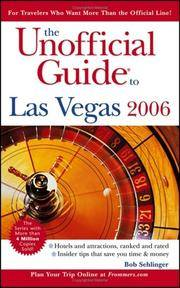 Unofficial Guide To Las Vegas 2006, The