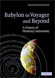BABYLON TO VOYAGER AND BEYOND: A HISTORY OF PLANETARY ASTRONOMY (HB 2003)