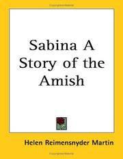 Sabina a Story of the Amish