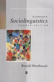 image of An Introduction to Sociolinguistics (Blackwell Textbooks in Linguistics)