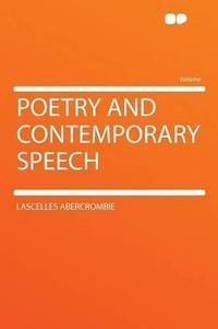 Poetry and Contemporary Speech