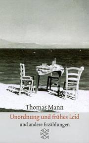 Unordnung und frühes Leid : Erzählungen 1919 - 1930