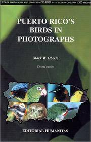 Puerto Rico's Birds in Photographs [With CDROM]