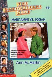 Mary Anne Vs Logan (Baby-sitters Club) by Ann M. Martin - Paperback - from Discover Books and Biblio.com