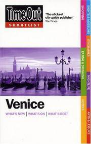 Time Out Shortlist Venice(Chinese Edition) by Time Out . The Editors of Time Out - from BookerStudy and Biblio.com