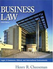 image of Business Law: Legal, E-Commerce, Ethical, and International Environments, 5th