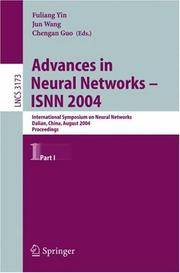Advances In Neural Networks - ISNN 2004: International Symposium On Neural Networks, Dalian, China, August… by  Chengan (Editor)  Jun (Editor)/ Guo - Paperback - 2005 - from Revaluation Books (SKU: __3540228411)