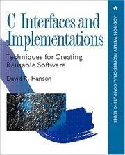 C Interfaces and Implementations: Techniques for Creating Reusable Software (Addison-Wesley...
