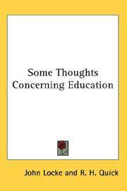 image of Some Thoughts Concerning Education (Pitt Press Series)