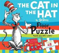 The Cat in the Hat by Dr. Seuss Floor Puzzle: Includes 48 giant puzzle pieces, Puzzle size:...